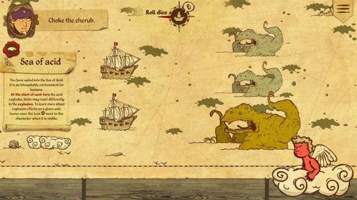 V tahových bitvách Here Be Dragons pomáháte Kolumbovi objevit Ameriku