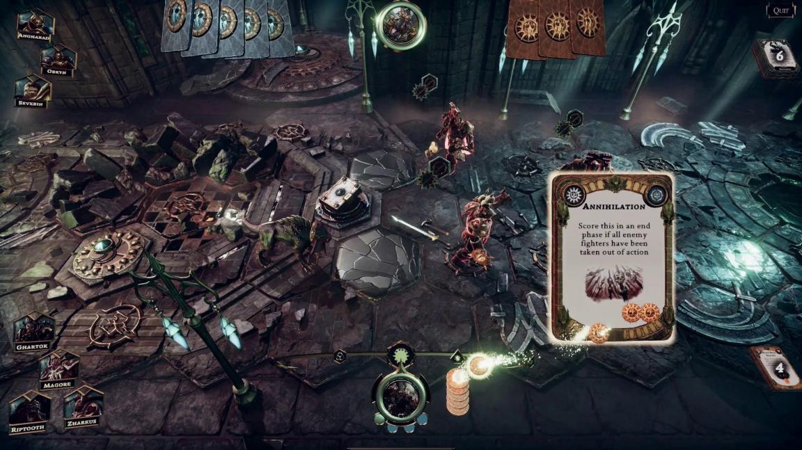 Ze stolu na počítače se vydrápala figurková karetka Warhammer Underworlds: Online