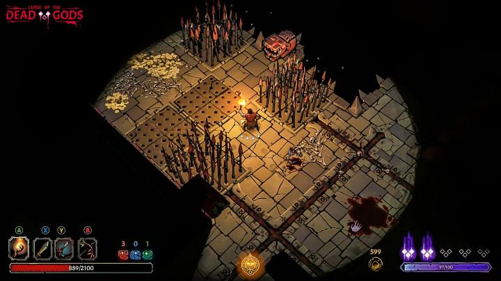 Záběry z akčního RPG Curse of the Dead Gods jsou nádherné