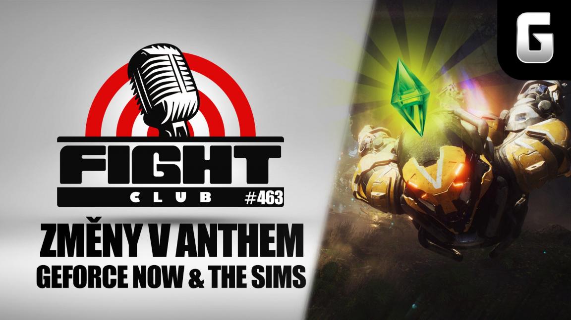 Sledujte Fight Club #463 o Anthem, GeForce Now i vraždění v The Sims