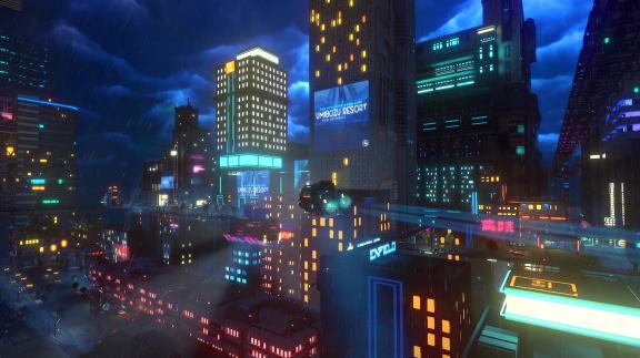 Cloudpunk – recenze kyberpunkové adventury v oblacích