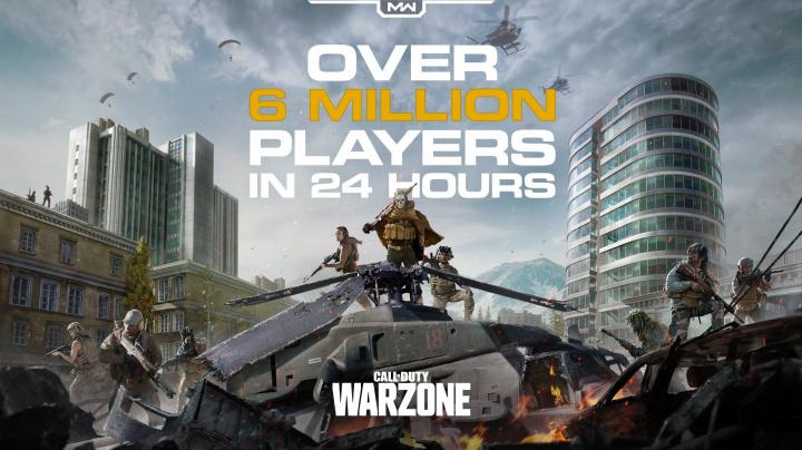 Call of Duty: Warzone má rychlejší start než Apex Legends a Fortnite