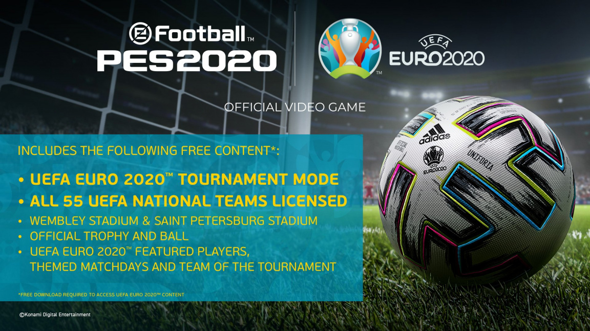 V PES 2020 oficiálně proběhne EURO 2020. Na rozdíl od skutečného světa?