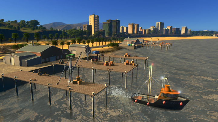 Do Cities: Skylines v DLC Sunset Harbor zavítají rybáři