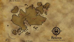 Mapa modifikace Roscrea od vývojářů Beyond Skyrim