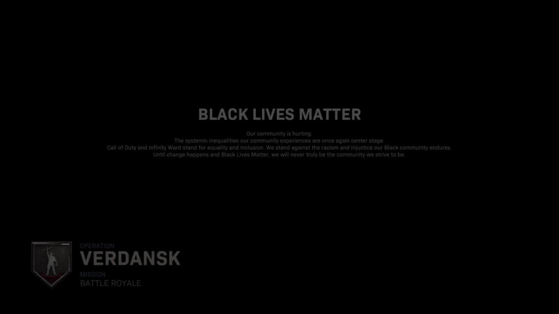 Infinity Ward podporuje Black Lives Matter. Hráčům Call of Duty to připomíná před každým zápasem