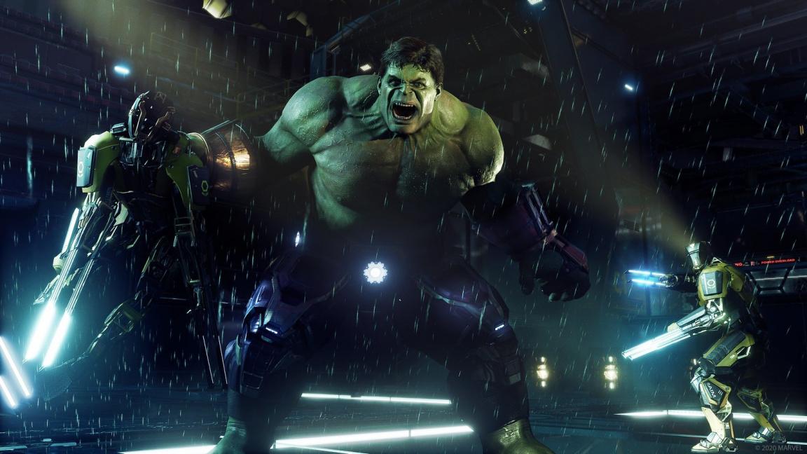 Podívejte se, jak to Thor nandává MODOKovým robotům v Marvel's Avengers