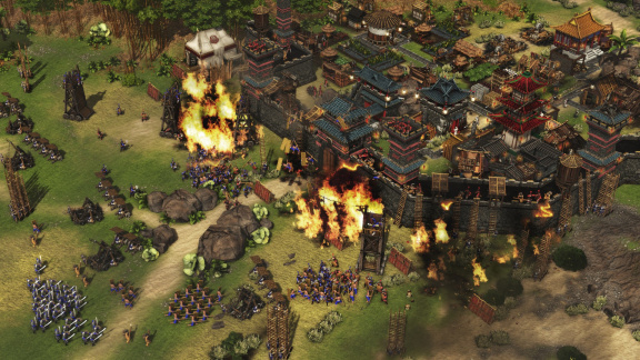 Ve strategii Stronghold: Warlords dobudete asijské hrady. Třeba v kooperaci