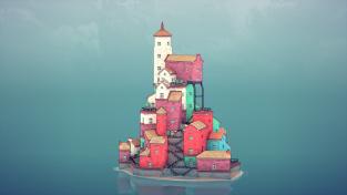 Postavte si rozkošné městečko na vodě s Townscaper