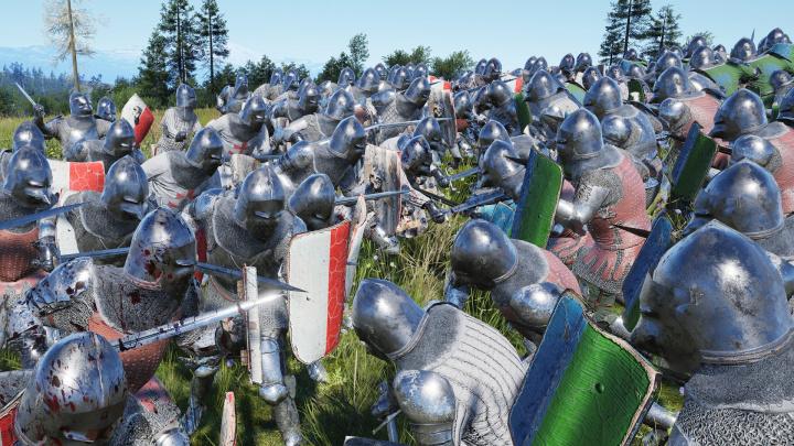 Budovatelská strategie Manor Lords překvapuje obrovskými bitvami ve stylu Total War