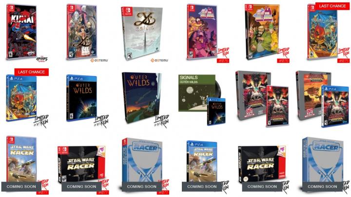 Tři desítky her dostanou speciální krabicové verze