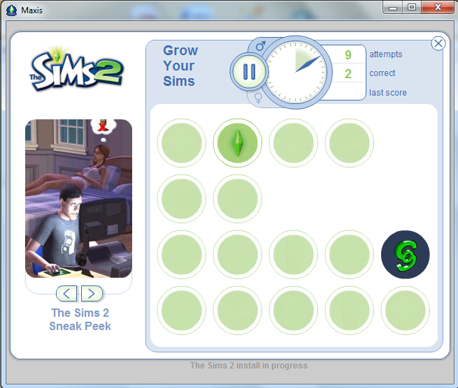 The Sims loading