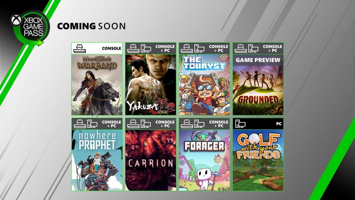 Xbox Game Pass rozšíří Yakuza, Grounded nebo třeba Carrion