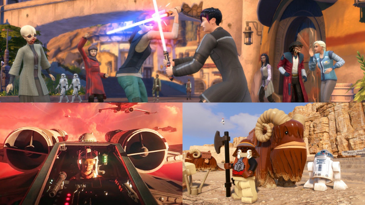 3x Star Wars: singleplayer ve Squadrons, LEGO a… The Sims 4?