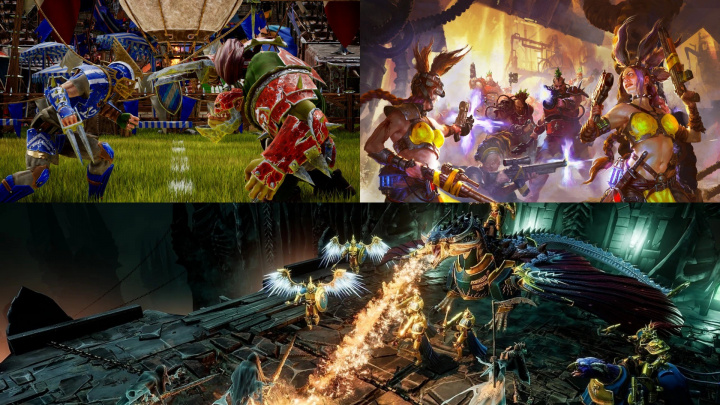 3x Warhammer: Necromunda, tahová strategie podle Age of Sigmar a Blood Bowl 3