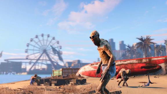 Fanoušci zasadili Fallout 4 do Miami zamořeného aligátořími mutanty