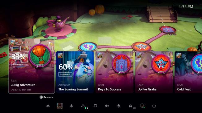 PlayStation 5 uživatelské prostředí