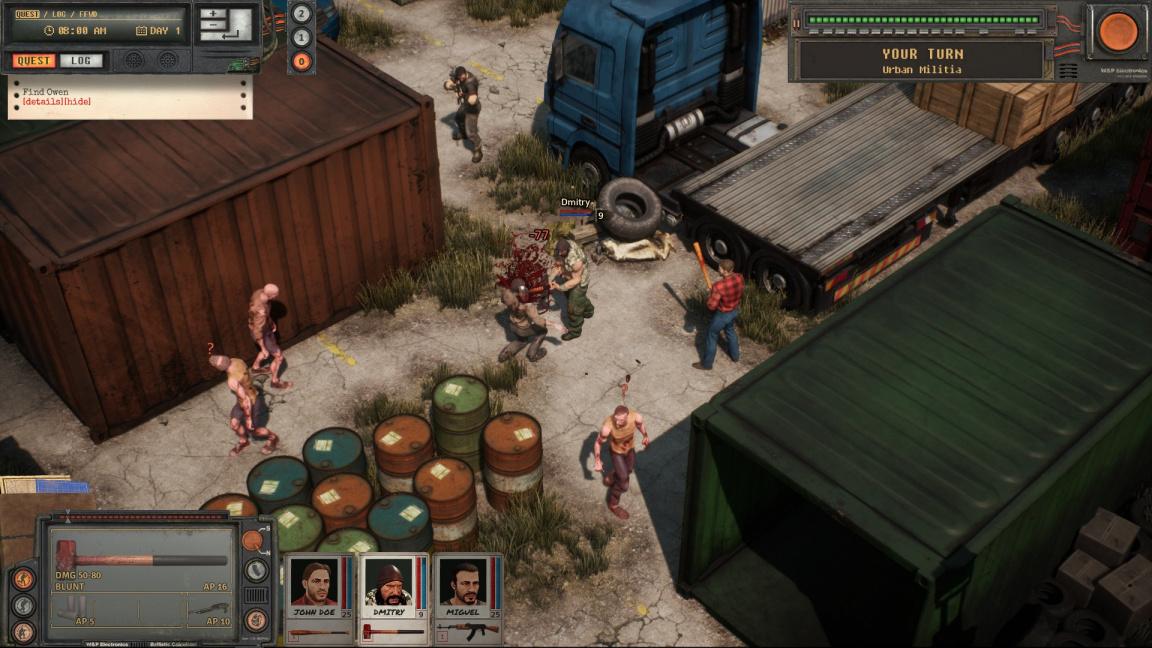 Urban Strife připomíná Jagged Alliance se zombíky a motorkáři