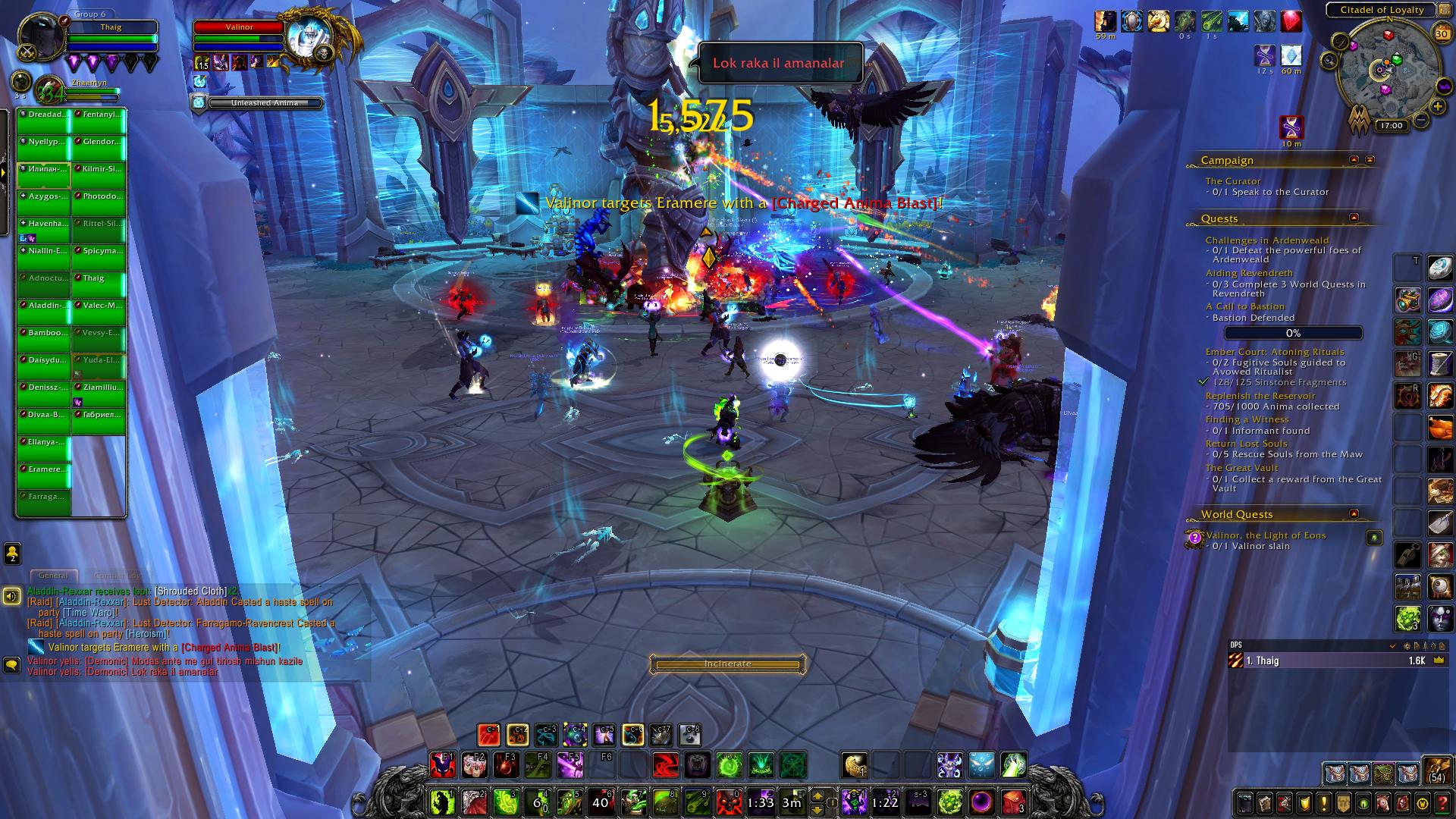 World of Warcraft: Shadowlands - endgame