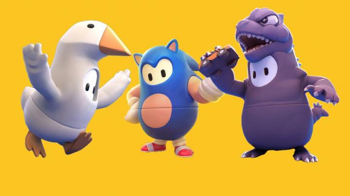 Do Fall Guys se podívá Sonic s Godzillou. Stávající levely se dočkají oživení