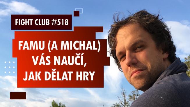 Sledujte Fight Club #518 o herním designu na FAMU s Michalem Berlingerem