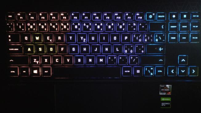 Podsvícení klávesnice OMEN 15