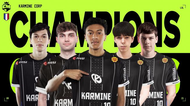 Karmine Corp vyhráli turnaj European Masters ve hře League of Legends