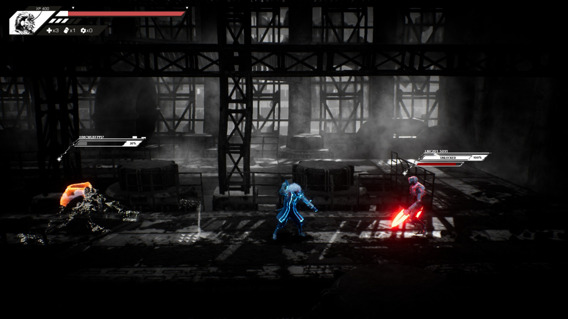 Slepý samuraj seká stroje v sci-fi japonské plošinovce Blind Fate: Edo no Yami