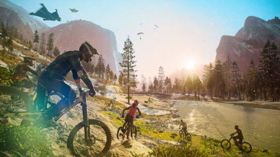 Riders Republic je zábavnou a ztřeštěnou evolucí Steepu, které by slušel model free-to-play