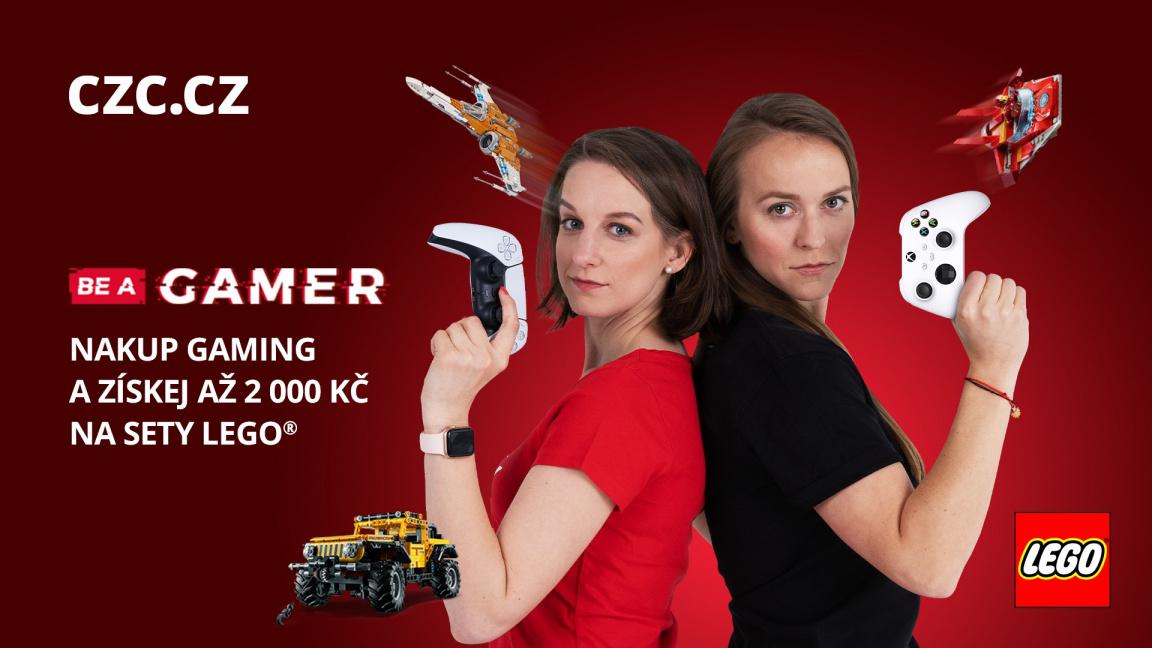 Největší herní svátek BE A GAMER právě startuje, slevy jsou na gaming i stavebnice LEGO