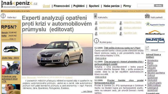 NašePeníze.cz jsou nové.