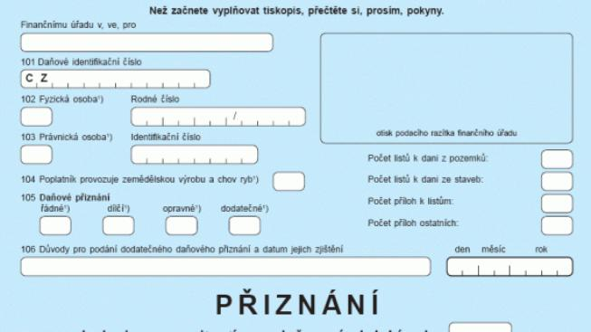 Daňové přiznání k dani z nemovitosti, Foto: Hypoindex.cz