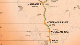 Nyní otevřený úsek Pula - Kanfanar je dlouhý 28 kilometrů a má tři exity, Foto: