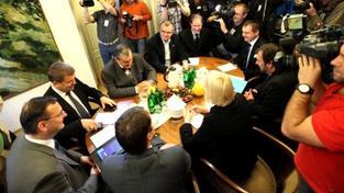 """""""V této zemi prostě nezdaněné benefity nemají co dělat,"""" doplnil předseda VV Radek John, Foto: ODS"""