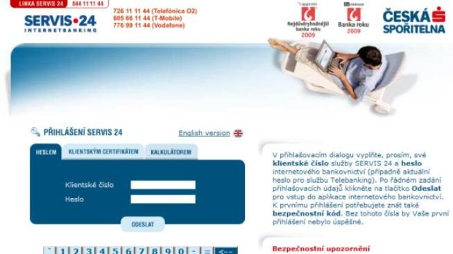 Česká spořitelna zvýšila ochranu uživatelů internetového bankovnictví před útoky hackerů, Foto:NašePeníze.cz