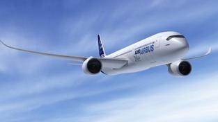 Trup letadla bude vyroben z keramických vláken, Ilustrační foto: Airbus A350