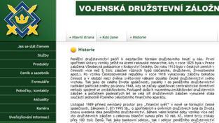 Vojenská družstevní záložna (VDZ) vykazovala ke konci října 2010 objem klientských vkladů 137 milionů korun, Foto: Web VDZ