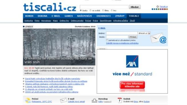 Společnost Tiscali Media je provozovatelem portálu Tiscali.cz, který je významným hráčem českého internetového trhu, Foto: NP