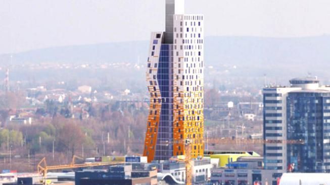 Architektonicky výrazná budova vyroste mezi ulicemi Pražákova a Heršpická poblíž M-Paláce, Foto: AZ Tower