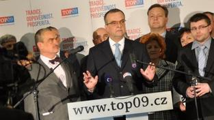 Postup rozpočtu do dalšího čtení ale nakonec ocenili koaliční poslanci potleskem, radost připustil i sám Kalousek, Foto:TOP09