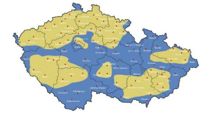 Nová síť podle mapy pokrytí společnosti zasahuje polovinu území České republiky včetně většiny velkých měst, Foto: