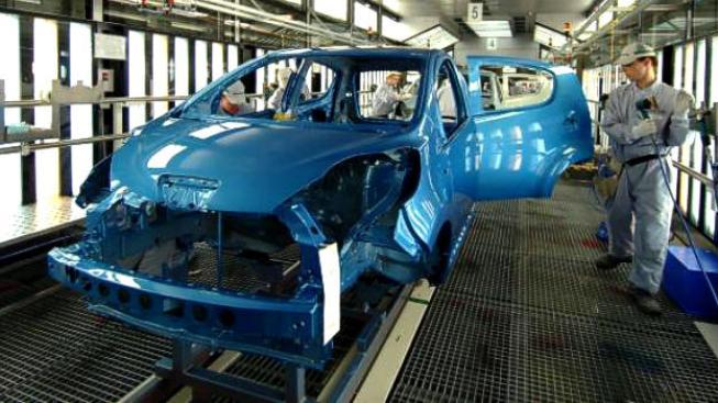 K meziročnímu poklesu průmyslové výroby nejvýrazněji přispěla odvětví výroba motorových vozidel, Ilustrační Foto:TPCA