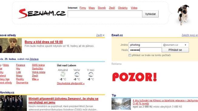 Odkázalo mě to na stránku, která se tvářila jako Seznam.cz a chtěla po mě ověřovací údaje k mému emailu, potvrdil muž. Foto:SXC, Text:MED