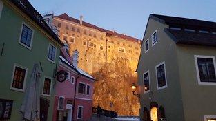 Český Krumlov v zimě