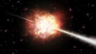Záblesk gama (představa výtvarníka)