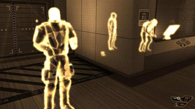 Radarové vidění ve hře Deus Ex: Human Revolution