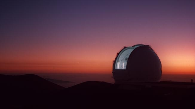 Keckův dalekohled na havajské sopce Mauna Kea