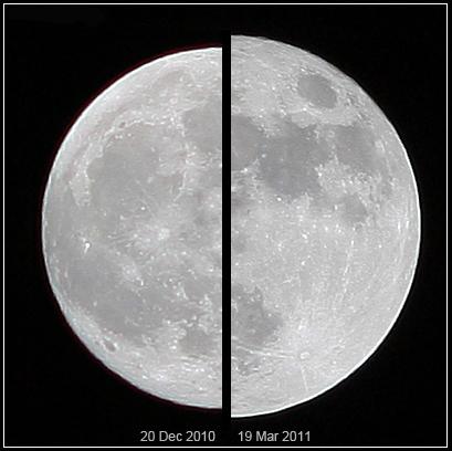 Superměsíc vs normální měsíc