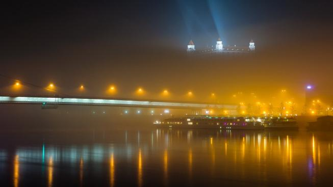 Vítězný snímek z fotografické soutěže na téma světelné znečištění