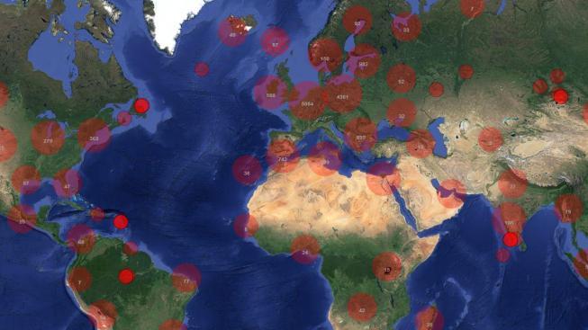 Co červený kroužek, to záplava zvuků z daného místa